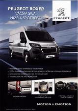 Peugeot Boxer 07 / 2017 catalogue brochure Slovaquie Slovakia rare