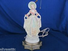 Porcelian Curtsy Figurine Lamp Base by Cordey Trenton NJ rare Early Production
