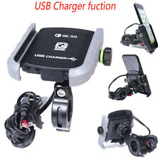 Gray Cell Phone Holder USB Charger For  Honda Shadow Spirit 1100 750 Tourer