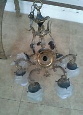 Antique 6 lite small chandelier