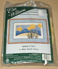 "Mary Booth Owen ""Spring is Here"" Yellow Daffodil Flowers Needlepoint Kit 16x10"""
