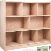Classroom Storage Cabinet Preschool Storage Shelves Wooden 8 Grids Toys Books