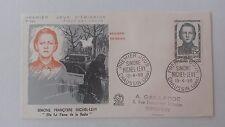 FRANCE PREMIER JOUR FDC YVERT 1159 RESISTANCE MICHEL-LEVY 15F CHAUSSIN JURA 1958