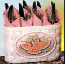 Ceramic Bisque Ready to Paint Card Holder/Basket for inserts (2) inserts  incl.