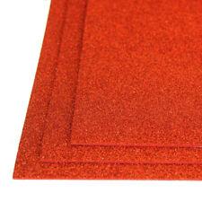 Self-Adhesive Glitter EVA Foam Sheet, 8-Inch x 12-Inch, 3-Piece, Red