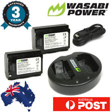 Wasabi Power Dual USB Charger and 2x Battery for Sony NP-FZ100,a9,a7R III,a7 III