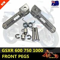 Front Pedals Foot Rest Assembly Foot Pegs SUZUKI GSXR600 GSXR750 GSXR1000