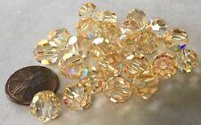 TWENTY-FOUR (24) 10mm BRANDY CUSTOM-COATED Round Swarovski Crystals Style 5000