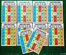 Early BINGO CARDS GAME COLOUR BINGO Made in Singapore 1970's VINTAGE Unique X 10