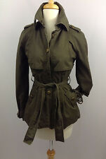 BEBE Olive Green  jacket trench army green cargo safari XS