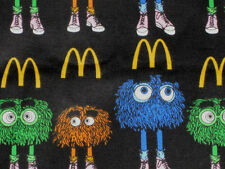 MC DONALD'S  FRY GUYS FLANNEL FABRIC SOLD  BY THE YARD