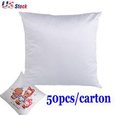 50pack Plain White 3d Sublimation Blank Pillow Case Fashion Cushion Cover