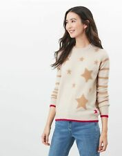 Joules Womens Chantelle Knitted Star Intarsia Jumper - Star Stripe - 16