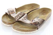 21-40 NEW Women's Sz 41 N Birkenstock Madrid Natural Leather Hard Footbed Sandal
