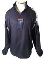 Tonix Mens VINTAGE Retro 1990s Blue White WIndbreaker Jacket XXL NWT