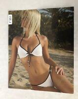 Jolidon Designer White & Black Bikini Set Size Medium NWT