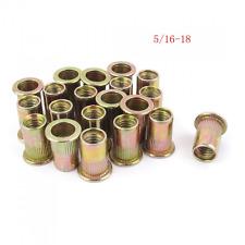 URBEST 50 Pcs Steel Rivet Nut Rivnut Insert Nutsert 5/16-18