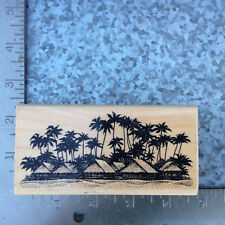 Stampscapes Palms w/Bungalows
