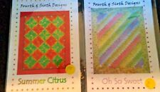 Lot of 2, Fourth & Sixth Design, Quilt Patterns by Mary Hoover & Barbara Persing