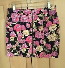 Forever 21 Woman's size L Floral Mini Skirt Cotton/Spandex