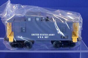 Lionel O Scale Illuminated United States Army Military Caboose Car 6-16566