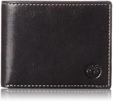 NEW TIMBERLAND MEN'S PREMIUM GENUINE LEATHER COMMUTER WALLET BLACK D11387/08
