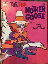 Vintage 1978 The Fun Mother Goose Color And Activity Book