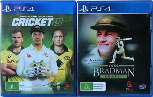 Cricket 19 and Don Bradman Cricket Game Bundle PS4