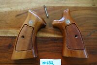 Smith & Wesson K & L Frame Grips Square Butt Checkered Target Good W/ Screw
