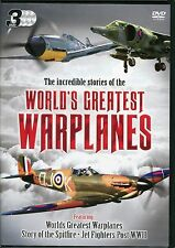 WORLDS GREATEST WAR PLANES 3 DVD SET STORY OF SPITFIRE  FIGHTER JETS POST WW2