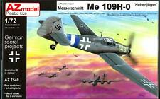AZ Models 1/72 MESSERSCHMITT Me-109H HOHENJAGER Hunter Fighter Project