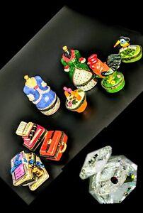 8 porcelain trinket boxes crystal shell 50 mm JCE11 17-4