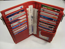 Leather Purse Wallet Organizer Slim with Many features Red Top Brand