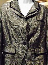 Simon Chang Women's Blazer black and Silver size 16