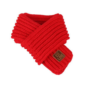 Neck Warmer Wool Scarf For Baby Kids Boys Girls Winter Outfit Knitted Scarves