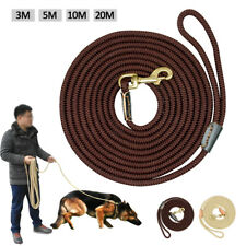 Long Strong Braided Dog Training Leash Medium Large Dog Tracking Rope Heavy Duty