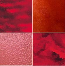 RED Stained Glass Pack (4 Sheets of 8X10) - Stained Glass Sheets