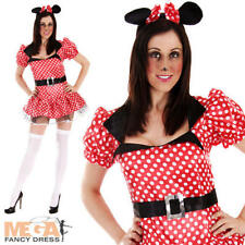 Sexy Mouse Ladies Fancy Dress Womens Minnie Movie Character Adult Costume Outfit