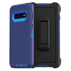For Galaxy S10 + Plus S10e Case Cover Shockproof Series Fits Defender Belt Clip
