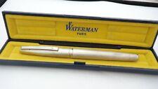 WATERMAN CONCORDE, IN BOX, SILVER PLATE, 18K EXTRA FINE NIB, FRANCE, LATE 1970'S