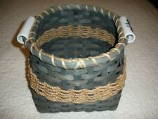 1 LARGE HANDMADE HANDWOVEN BASKET