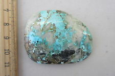 428A  RARE TURQUOISE IN QUARTZ CAB FROM BLUE MOON MINE, CANDELARIA HILLS, NEVADA