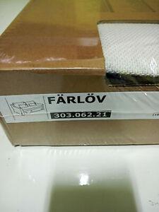 New Original IKEA cover set for Farlov 3 seat sofa in FLODAFORS WHITE 303.062.21