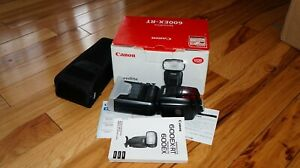 Canon Speedlite 600EX RT Shoe Mount Flash Good Condition Include diffuse Cover