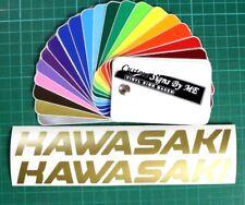 2x Kawasaki Personalised Stickers Vinyl Decals Adhesive Tank Fairing Gold Color