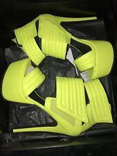 Jennifer Chou Neon Yellow Platform Pumps 9