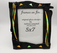 Fused Art Glass Picture Frame Frames on Fire Melissa Campbell California Artist