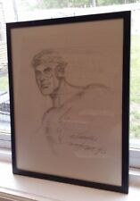 KID FLASH-HAND DRAWN & SIGNED/NICK CARDY W/COA-ABOUT 9x12-FRAMED