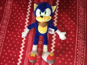 "Official TOMY 12"" SONIC THE HEDGEHOG BOOM Sonic Plush Toy Doll 2014"