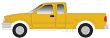 ATLAS (N-Scale) #60000110 FORD 1997 F-150 MOW Yellow (2-Pack)
